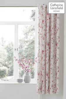 Jasmine Floral Eyelet Curtains by Catherine Lansfield