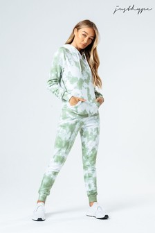 Hype. Womens Green Tie Dye Joggers