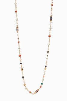 Accessorize Multi Extra Long Skinny Rope Necklace