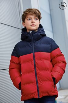 Red No Stag Shower Resistant Padded Jacket (3-16yrs)