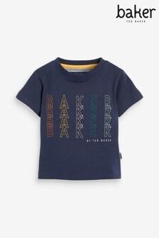 Baker by Ted Baker x4 Slogan T-Shirt