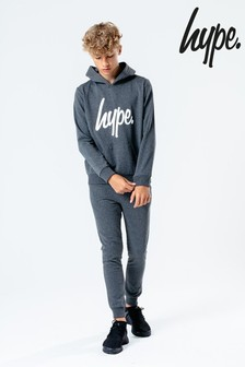 Hype. Dark Grey Script Kids Hoody & Jogger Set
