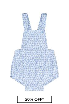 Paz Rodriguez Baby Boys Blue Cotton Romper