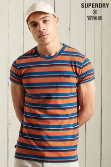 Superdry Orange Label Striped T-Shirt