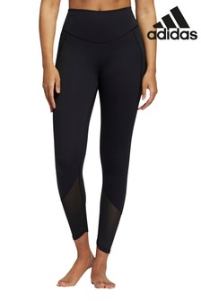 adidas Black Yoga Power Mesh 7/8 Leggings