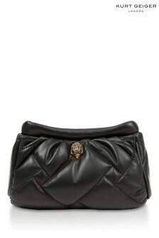 Kurt Geiger London Black Kensington Soft Clutch Bag