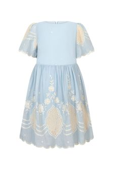 Patachou Girls Blue Cotton Dress