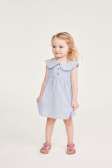 Blue Stripe Collar Dress (3mths-7yrs)