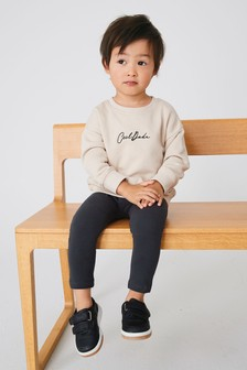 Charcoal/Stone Cool Dude Crew And Leggings Set (3mths-7yrs)