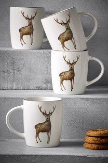 Set of 4 Audley Mugs