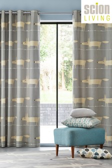 Scion Mr Fox Lined Eyelet Curtains