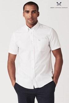 Crew Clothing Company White Short Sleeve Oxford Shirt