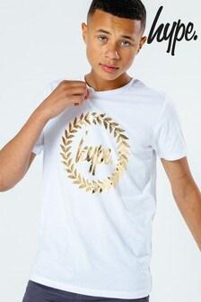 Hype. Kids White Crest T-Shirt
