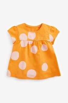 Orange Spot Cotton T-Shirt (3mths-7yrs)