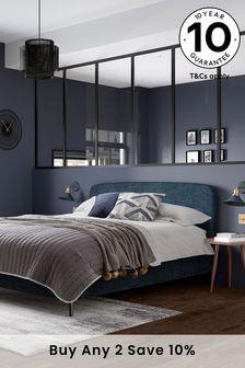 Soft Marl Petrol Blue Matson Bed