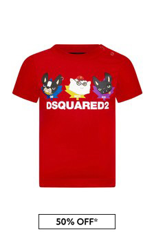 Dsquared2 Kids Baby Boys Red Cotton T-Shirt