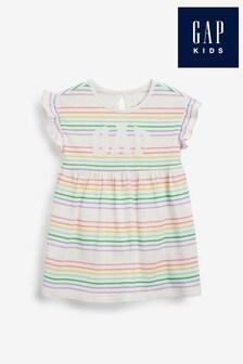 Gap Baby Rainbow Stripe Jersey Dress
