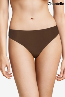 Chantelle Brown Soft Stretch String Briefs