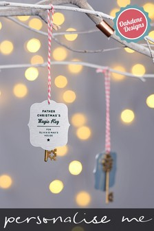 Personalised Santa's Key Bauble by Oakdene