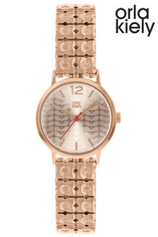 Orla Kiely Ladies Rose Gold Bracelet Watch
