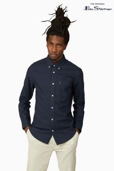 Ben Sherman Navy Long Sleeve Signature Organic Oxford Shirt