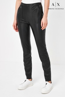 Armani Exchange Eco Leather Leggings
