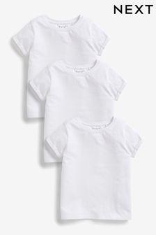 White 3 Pack Regular Fit T-Shirt (3-16yrs)