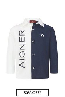 Aigner Baby Boys Blue Cotton Boys Shirt