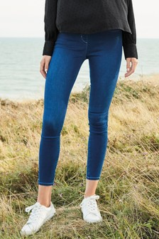 Dark Wash Super Stretch Soft Sculpt Pull-On Denim Leggings