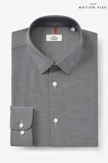Grey Regular Fit Single Cuff Cotton Stretch Motion Flex Shirt