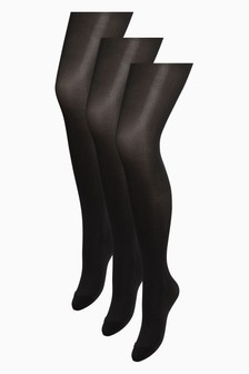 Black 40 Denier Opaque Tights Three Pack