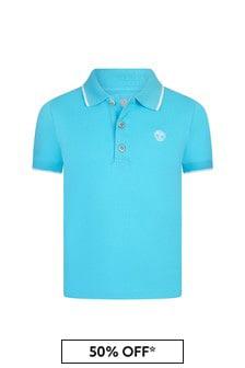قميص بولو قطن أزرق أولادي منTimberland®