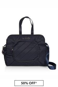 حقيبة تغيير حفاضات أزرق داكن