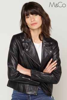 M&Co Black Leather Jacket