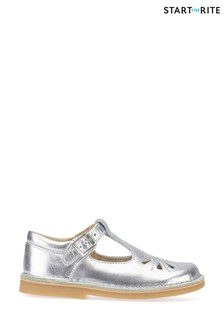 Start-Rite Lottie Silver Leather Classic Shoes