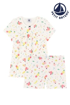Petit Bateau White Fruit Print Pyjamas