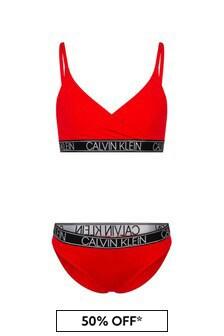 بكيني أحمر للبنات منCalvin Klein Underwear