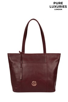 Pure Luxuries London Burgundy Pimm Leather Tote Bag