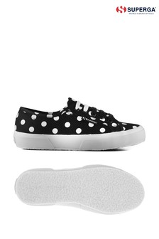 Superga® Black 2750 Polkadots Pumps