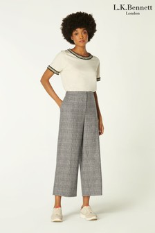 L.K.Bennett Black Darling Prince Of Wales Check Trousers