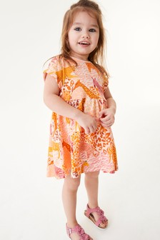 Orange Safari Cotton Jersey Dress (3mths-7yrs)
