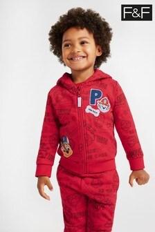 F&F Kids Red Paw Patrol Zip Through Sweat Top