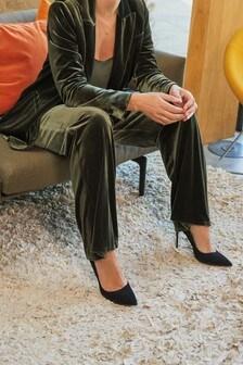 Olive Emma Willis Velvet Wide Leg Trousers