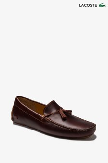 Lacoste® Brown Piloter Loafers