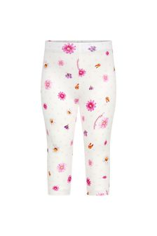 Monnalisa Baby Girls White Cotton Girls Leggings