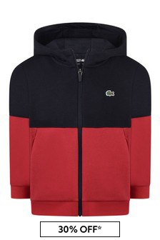Boys Red/Navy Zip Up Top