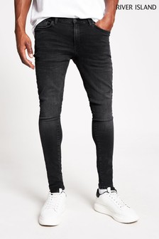 River Island Black Spray On Wash Perry Jeans