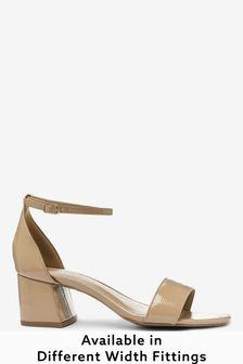 Nude Extra Wide Fit Forever Comfort® Simple Block Heel Sandals
