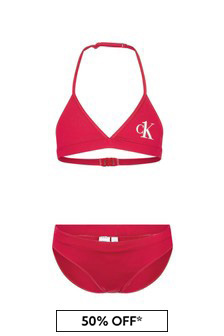 بكيني وردي للبنات منCalvin Klein Underwear