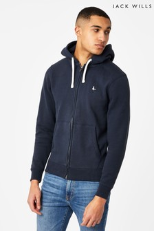 Jack Wills Navy Pinebrook Zip Through Hoody